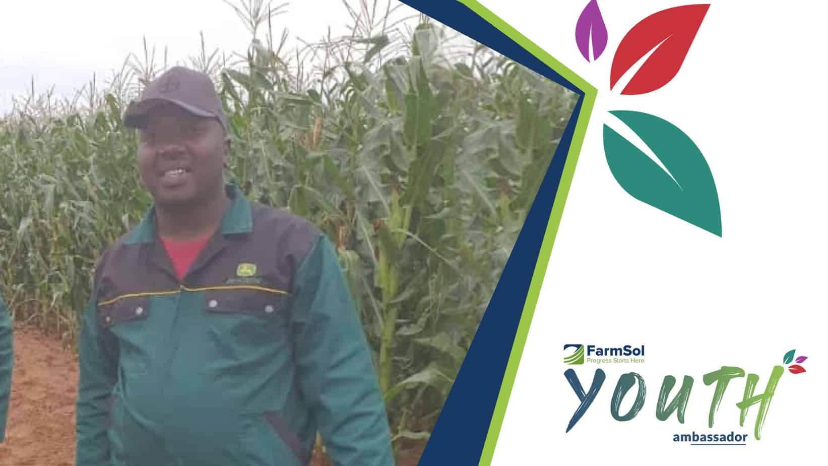 Benjamin Mbele is one of the rising farm stars participating in the FarmSol Youth Ambassador programme. Photo: Supplied/Food For Mzansi