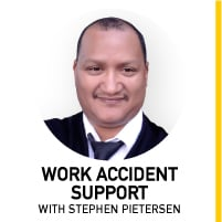 Compensation fund: Stephan Pietersen from Work Accident Support.