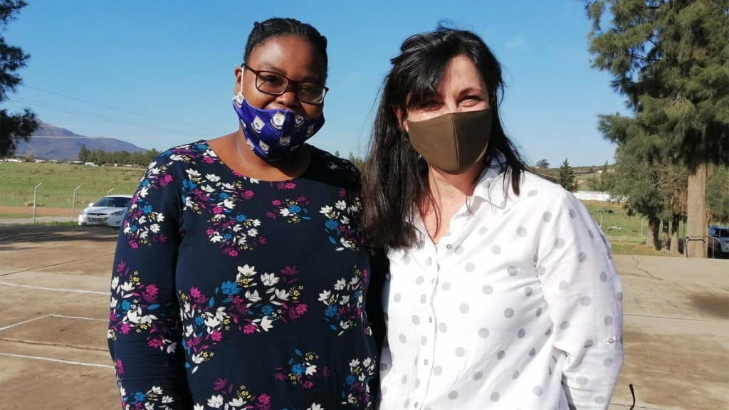 Khuliliwe Ntombela and Monika Basson, who were part of the day's first panel. Photo: Food For Mzansi