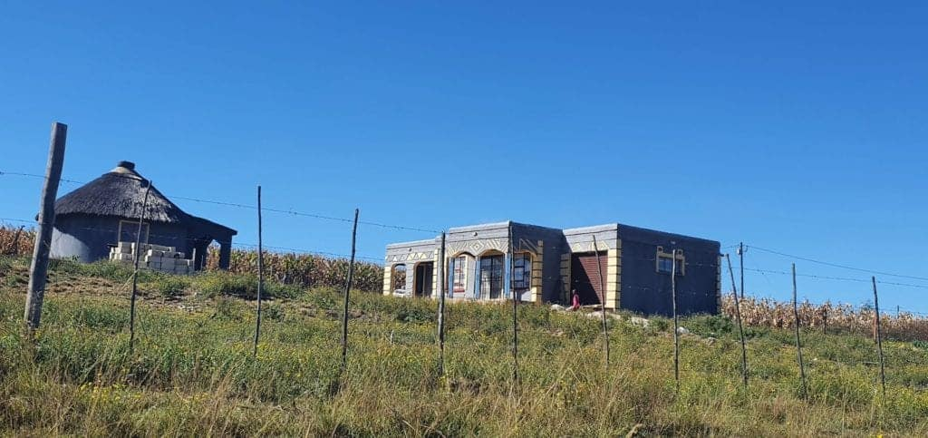 On KRC Farm, dwellers have transformed their mud huts into modern houses with running water and electricity. Photo: Noluthando Ngcakani/Food For Mzansi