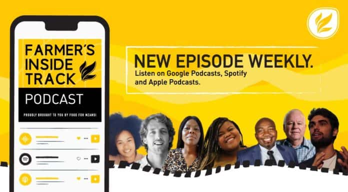 This week's podcast features (from left) Nicole Ludolph, Thomas Keet, Thalitha Zondi, Noluthando Ngcakani, Morena Khashane, Colin Steenhuisen, and Ares Ferrigni. Photos: Supplied/Food for Mzansi.