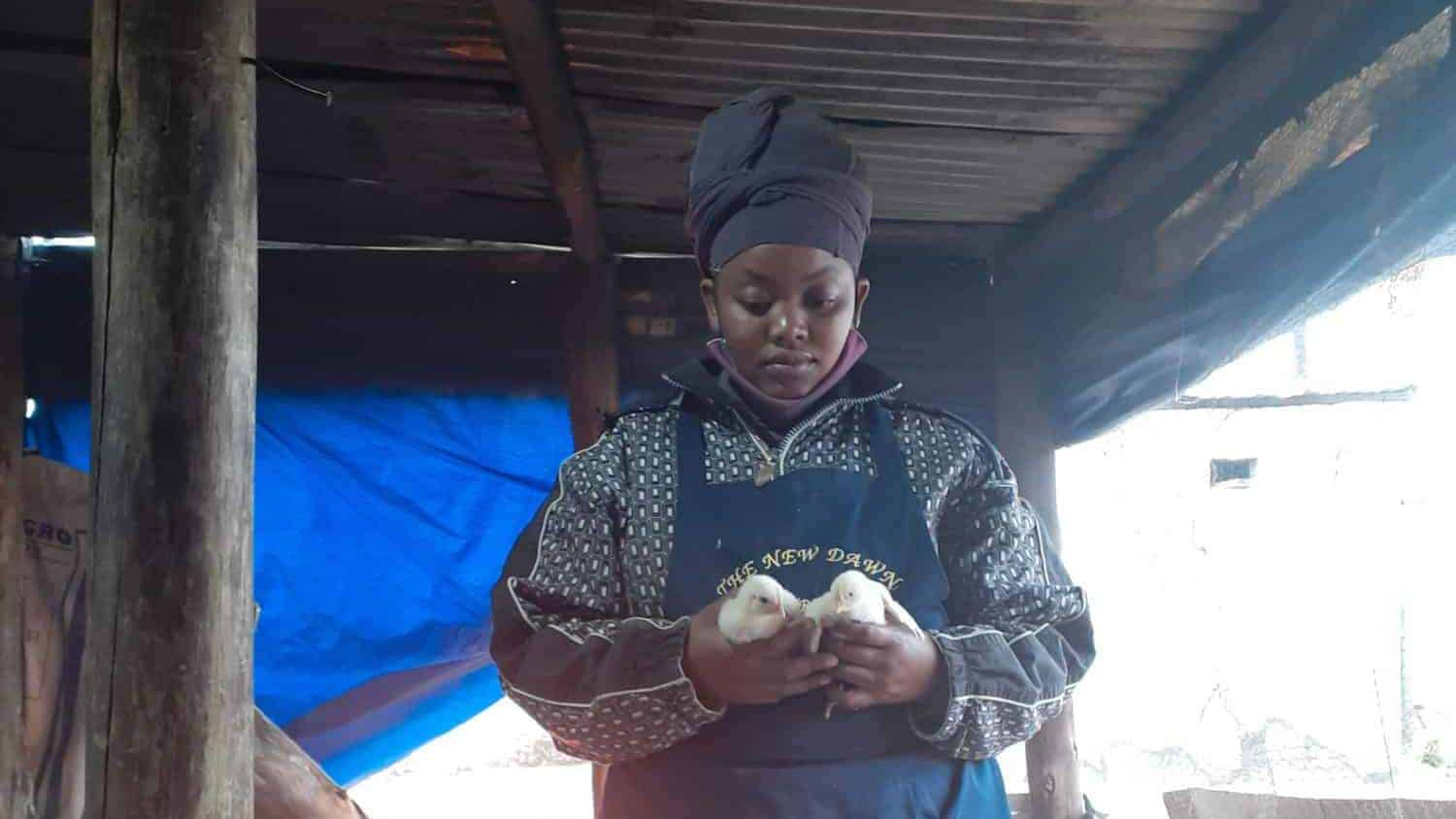 Ramokone Kwakwa, a 21-year-old side hustle poultry farmer from Spook Park, a village on the outskirt of Seshego township in Limpopo.
