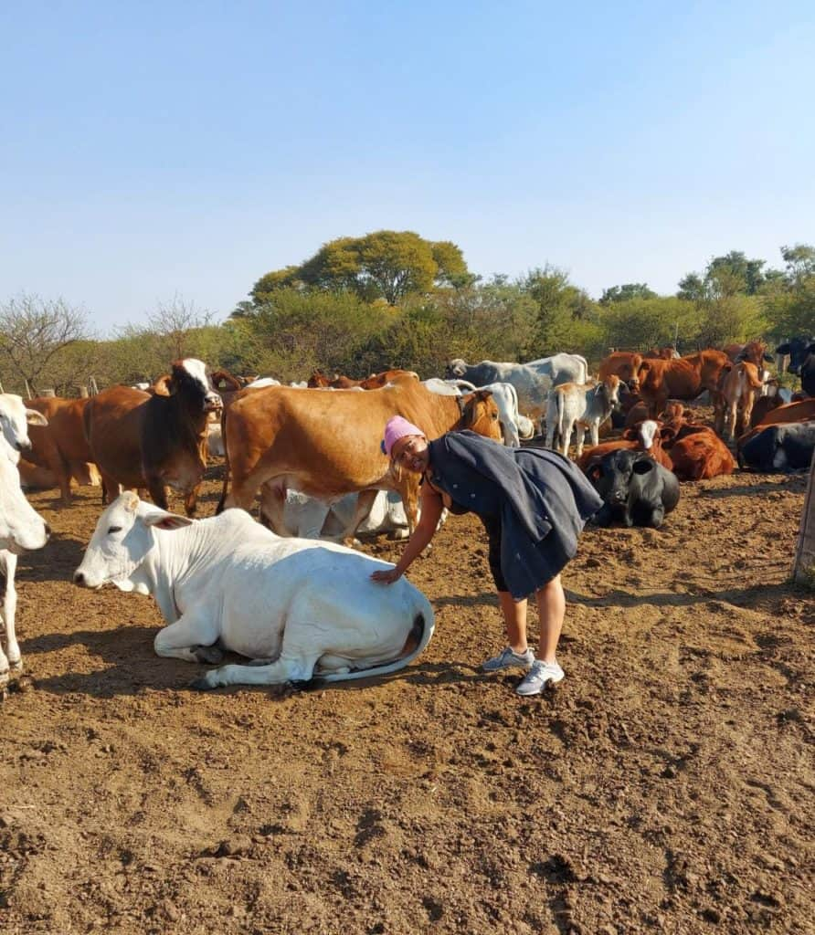 Livestock farming: Cattle farmer Boitumelo Modisane is living her life's calling. Photo: Supplied/Food For Mzansi