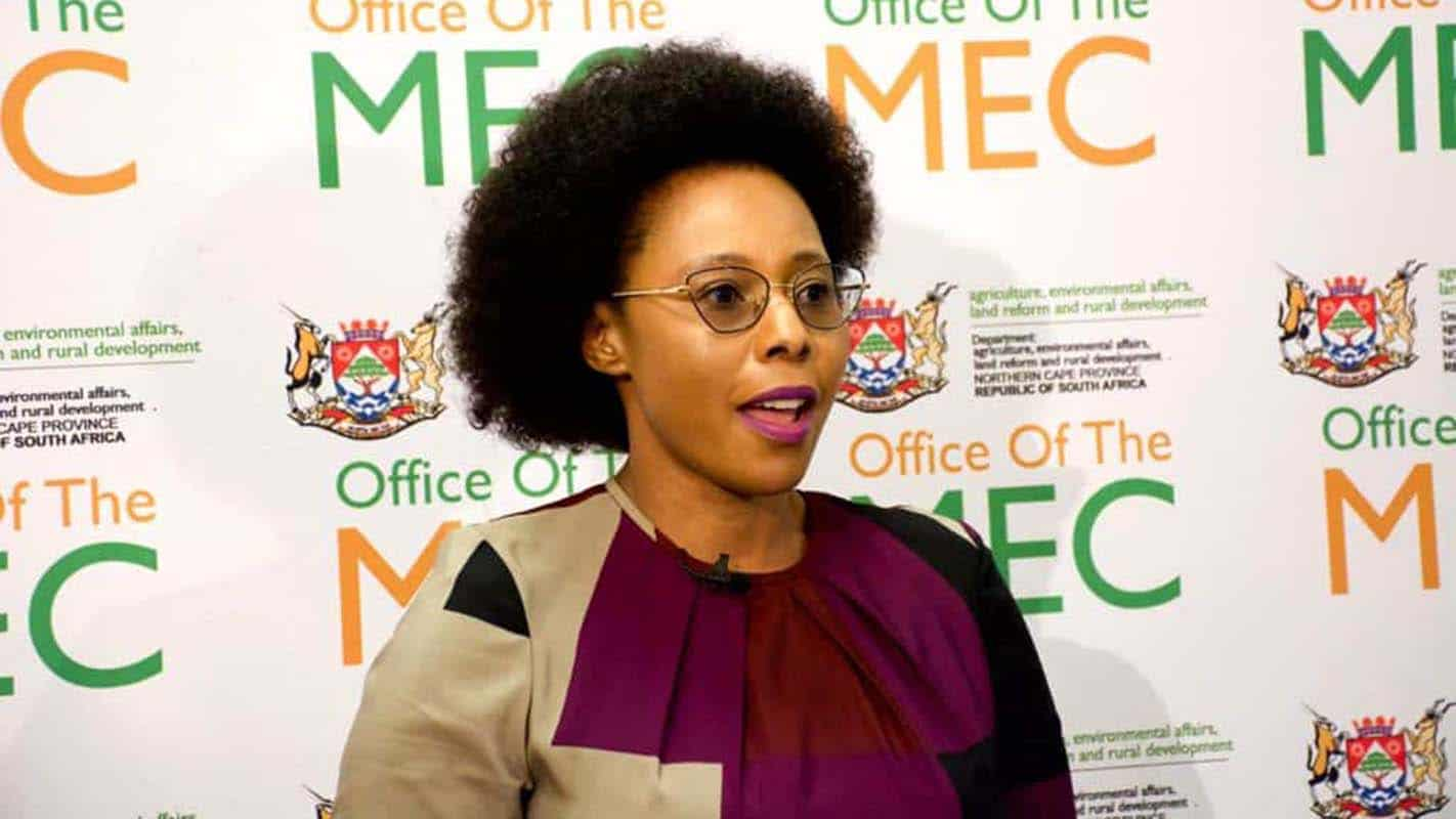 Tabled before a full house of the Northern Cape legislature, Mase Manopole delivered her youth and women-focused budget for the new financial year. Photo: Supplied/Food For Mzansi