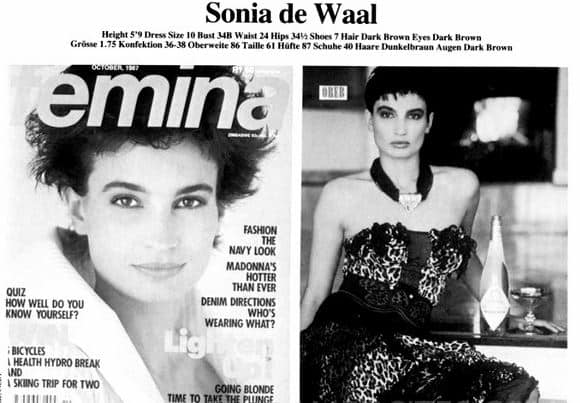 Sonia Cabano graced the cover of magazines and walked the international runway as a model. Photo: TV met Thinus