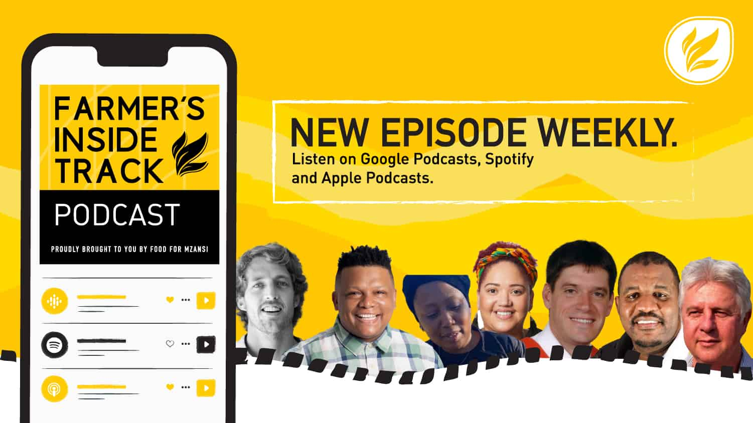 This week's podcast features (from left) is Dr Peter Oberem, Jo-andra Gregory, Ivor Price, Boitumelo Modisane, Thomas Keet and Aron Kole. Photos: Supplied/Food For Mzansi