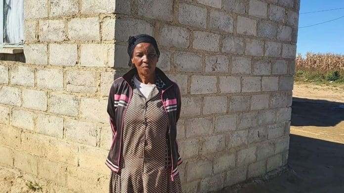 The 62-year-old Christina Nkosi has been living on the Mkhondo farm owned by Kurt Paul (55) since she was just five. Through an empowerment project, she was able to replace her mud house with a brick-and-mortar home with electricity and water. Photo: Noluthando Ngcakani/Food For Mzansi