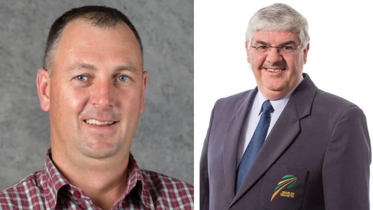 Dr Pieter Taljaard, currently employed by Bayer, will replace Jannie De Villiers as the new CEO of Grain SA on 1 September 2021. Photos: Supplied/Grain SA
