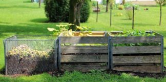 How to construct a compost area with limited resources