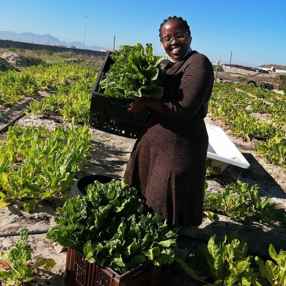 Electricity and fuel price hike: Thozama Sikiti (36) a vegetable farmer in Khayelitsha in Cape Town. Photo: Supplied/Food For Mzansi