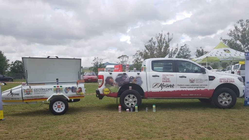 Animal health products provider Afrivet earlier donated a Double Cab bakkie to the Eastern Cape Veterinary Services in support of their rural rabies vaccination campaigns. Photo: Supplied/Afrivet