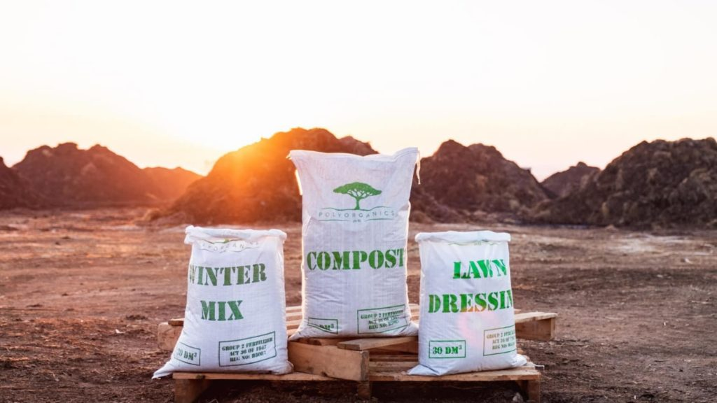 composting Griessel says that her company, Polyorganics has also started branching into leafy green farming. Photo: Supplied/Food For Mzansi