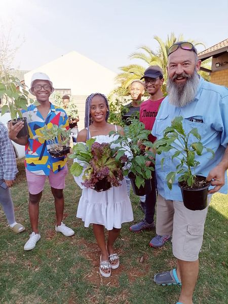 Thabo Olivier's Facebook page is testimony to the many people he inspired to start their own food gardens. Photo: Facebook