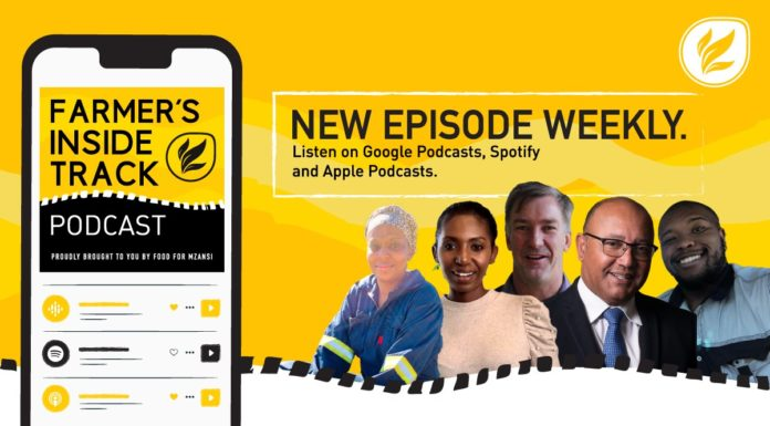 This week's podcast features (from left) Relobohile Selete, Katlego Ngwane, Naude Malan, Christo van der Rheede, and Athenkosi Denga. Photos: Supplied/Food for Mzansi.