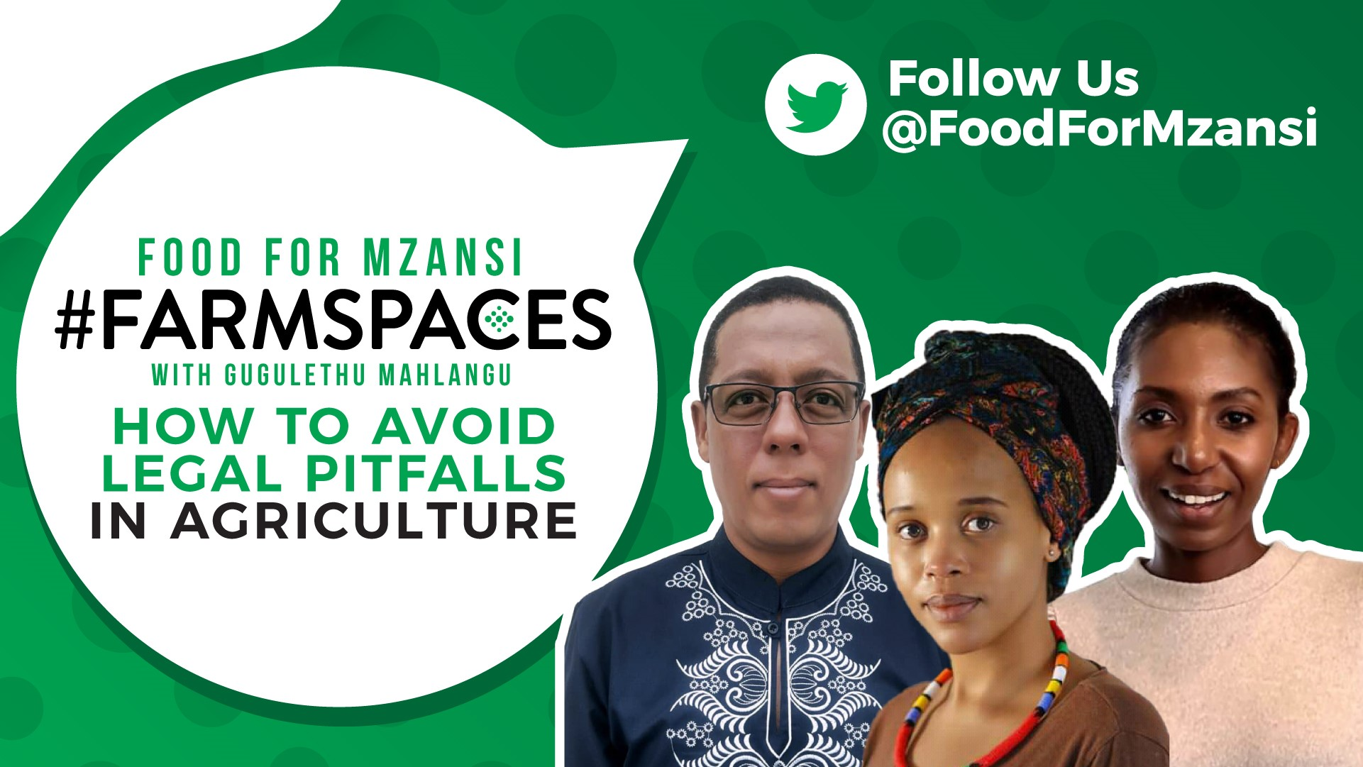 Join us at 6 pm this evening to learn more about legal pitfalls in agriculture. Photo: Supplied/Food for Mzansi.