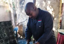 Given Ngwamba turned from looking for a job to creating jobs when he started making his own charcoal. Photo: Supplied/Food for Mzansi