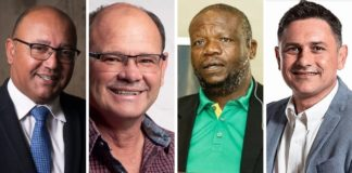 Mpumalanga PALS: Featured from the left are Christo van der Rheede from Agri SA, Piet Potgieter from VKB, Nakana Mosaka from Afasa and Tommy Ferreira from Mpumalanga Agriculture. Photos: Supplied/Food For Mzansi